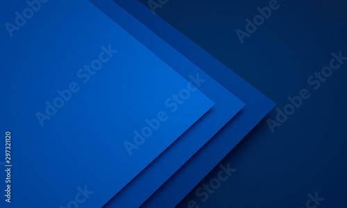 Fotomural  Mockup of blue cards - 3D illustration
