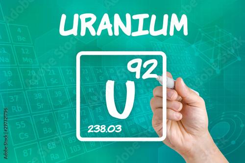 Fototapeta  Symbol for the chemical element uranium