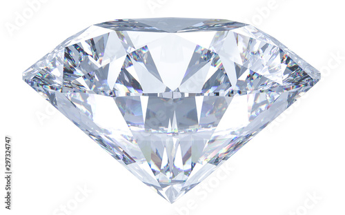 Large Crystal Clear Round Cut Diamond Fototapete