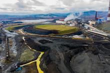 Chimneys Of Copper Smelting Plant. Karabash Zone Of Ecological Disaster