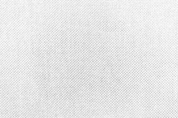 White natural texture of knitted wool textile material background. White cotton fabric woven canvas texture