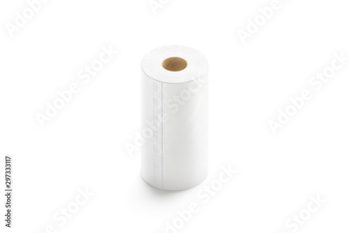 Blank white paper towel mock up stand isolated Wallpaper Mural