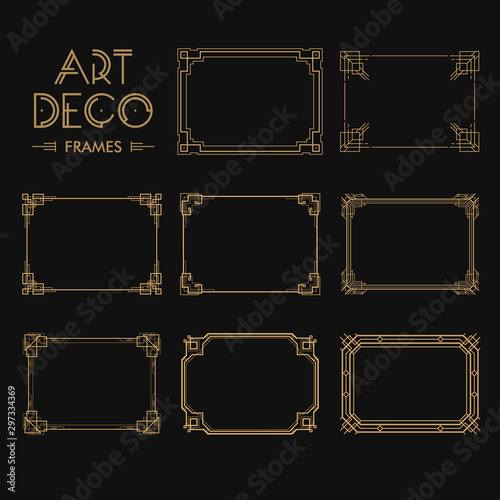 Photo Set of Art deco borders and frames