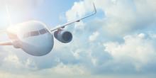 Flight Of An Airplane. Beautif...