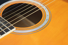 Acoustic Guitar On Isolated Ba...