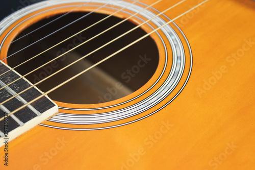 Plakaty Instrumenty Muzyczne   acoustic-guitar-on-isolated-background-musical-instruments