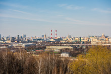 View Of Downtown Of Moscow And...