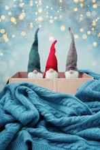 Three Christmas Gnomes Of Diff...