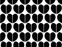 Repeating Heart Shape Vector P...
