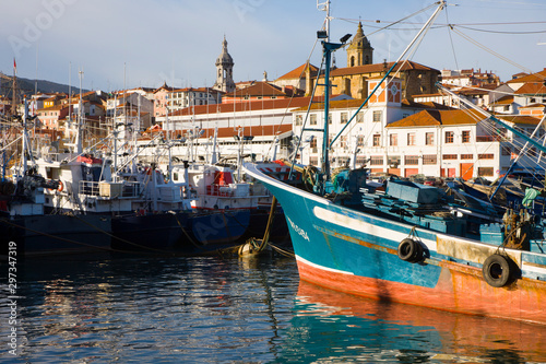 Fototapety, obrazy: Bermeo fishing port, Bermeo, Cantabrian Sea, Bizkaia, Basque Country, Spain, Europe