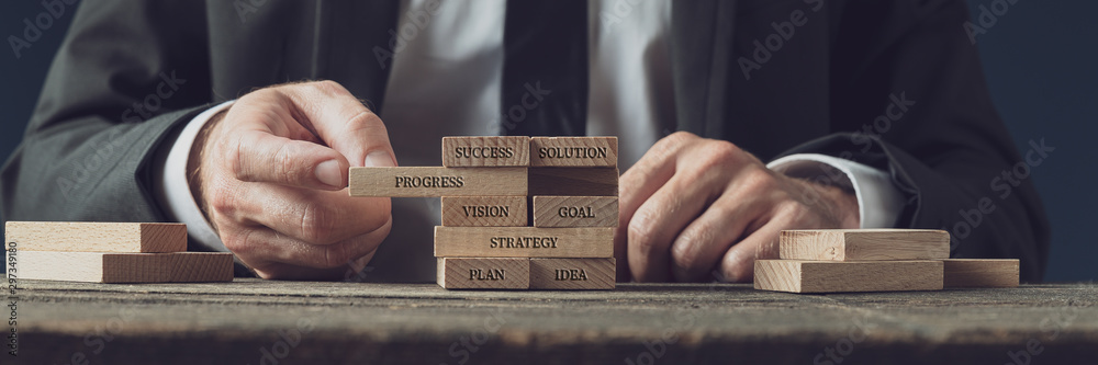 Fototapeta Business strategy and vision conceptual image
