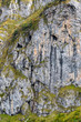 canvas print picture - rocky surface of a mountain. Face shape