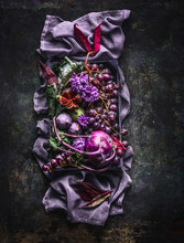 Beautiful Purple Fruit, Vegeta...