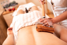 Back Area Massage With Wooden ...