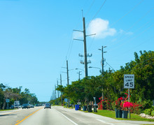 45 Speed Limit Sign In Florida Keys
