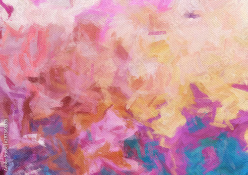 Photo sur Toile ZigZag Colorful oil painting abstract art texture with brush strokes. Vintage Style background with space for text. Good for banner, design work and advertising or commercial. Can be printed in very big size