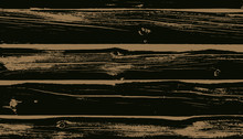 Weathered Dark Brown Wood Planks Vector Background. Wood Grain Overlay Texture.