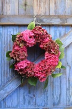 A Seasonal Autumn Wreath Of Pi...