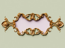 Vintage Card With Gold Ornamen...