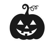 Halloween Pumpkin Jack O Lantern Icon.