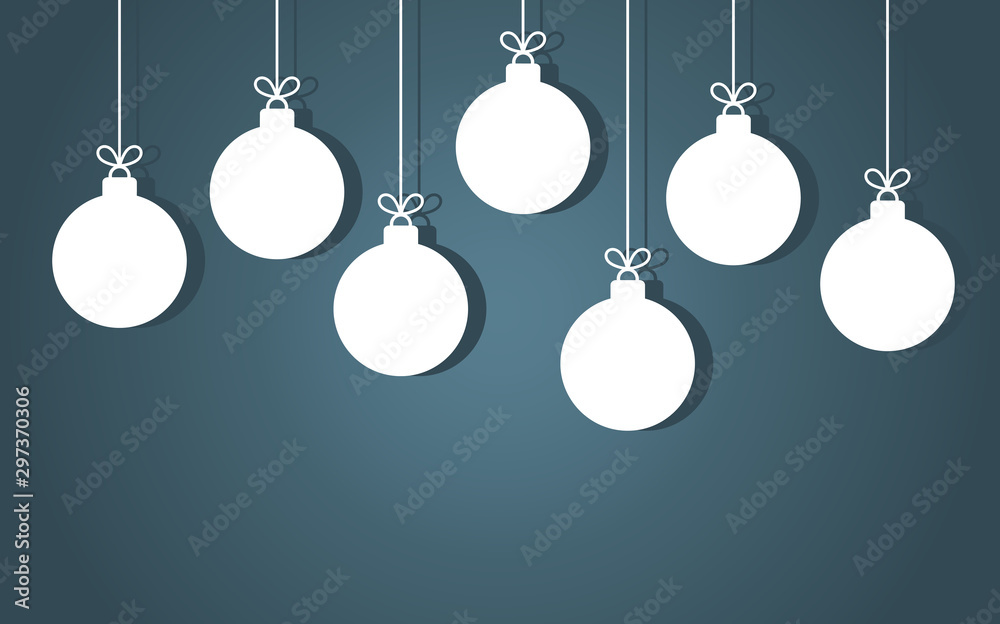 Fototapeta Christmas baubles hanging ornaments.