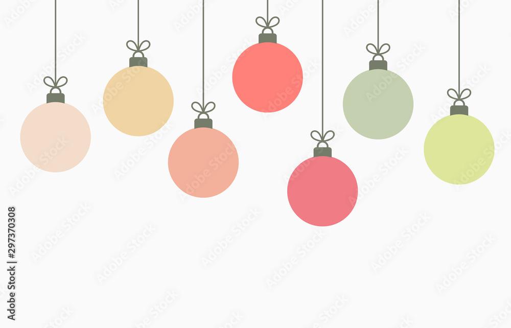Fototapety, obrazy: Christmas balls hanging ornaments background.
