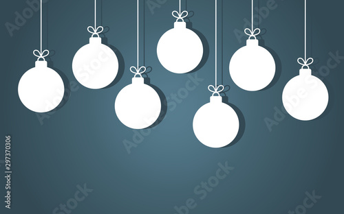 Obraz Christmas baubles hanging ornaments. - fototapety do salonu