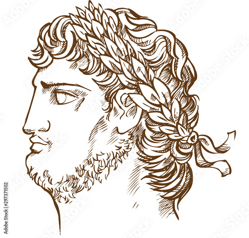 emperor Nero, vintage  illustration drawing Fototapete