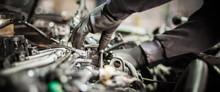 Close Up Of Car Mechanic Repai...
