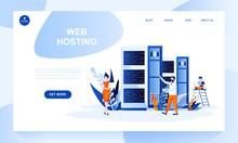 Web Hosting Vector Landing Pag...