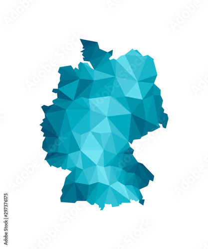Vector isolated illustration icon with simplified blue silhouette of Germany map Wallpaper Mural