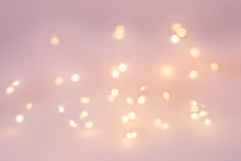 Christmas Golden Lights On A L...