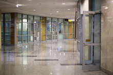 Empty Corridor Of An Office Building