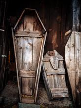 Old Wooden Coffins