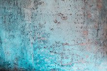 Abstract Blue And Gray Texture. Granular Tiles With Nice Light Blue Spots Of Paint