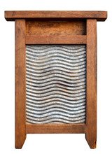 Very Old Washboard Isolated On...