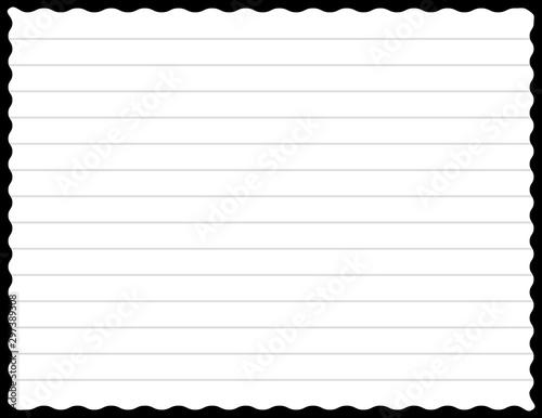 Fotografía  Sheet of notebook or notepad. Background. Vector