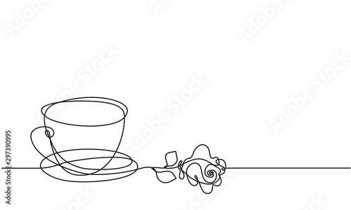 puchar-i-kwiat-rozy-ciagle-rysowanie-linii-naszkicowac-herbata-czy-kawa