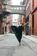 Dancer Arching Body On Pointe
