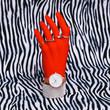 canvas print picture Plastic hand in fashion jewelry accessories. Stylish concept