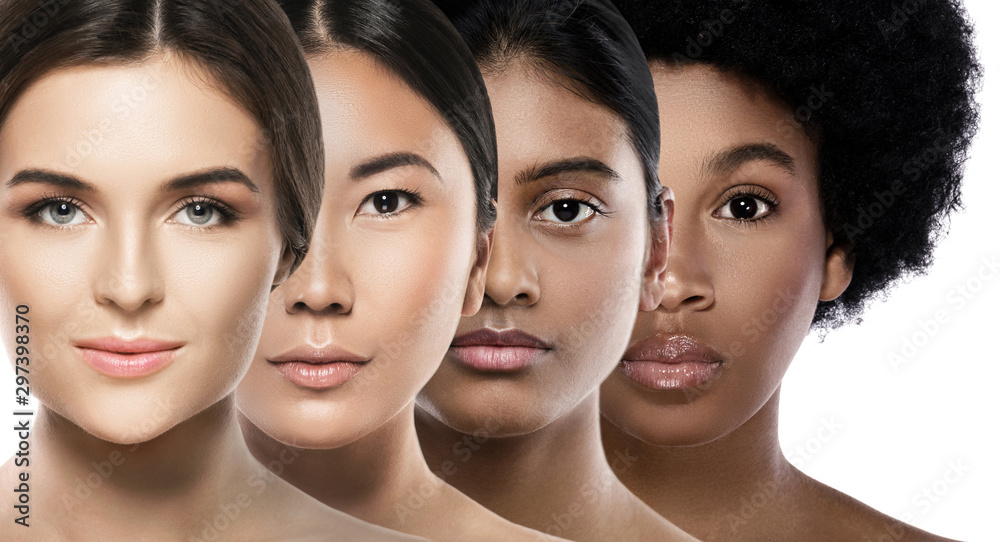 Fototapety, obrazy: Different ethnicity women - Caucasian, African, Asian and Indian.