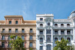 canvas print picture - Facades of building in the center of Madrid