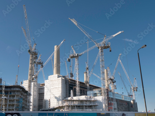 Obraz na płótnie UK, england, London, Battersea Power Station