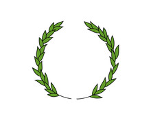 Simple Drawing Of A Laurel Wreath, Vector Illustration
