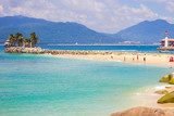 Beautiful sunny beach of Boundary island near Sanya, Hainan island, South China sea, China, Asia