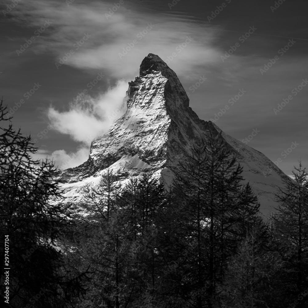 Fototapeta Matterhorn BW