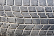 old car tire. worn tread