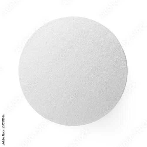 Obraz Closeup of medical pill isolated on white background - fototapety do salonu