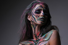Woman In Terrifying Make Up.