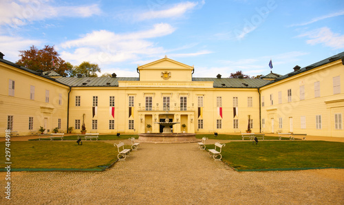 State chateau Kynzvart is situated in small city Lazne Kynzvart (Bad Königswart Wallpaper Mural
